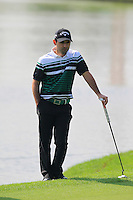Fabrizio Zanotti (PAR) on the 9th green during Sunday's Final Round of the 2014 BMW Masters held at Lake Malaren, Shanghai, China. 2nd November 2014.<br /> Picture: Eoin Clarke www.golffile.ie