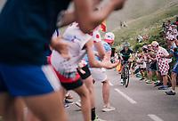 Rafał Majka (POL/BORA-hansgrohe) leading up the last climb of the 2018 Tour: the Col d'Aubisque (HC/1709m/16.6km@4.9%)<br /> <br /> Stage 19: Lourdes &gt; Laruns (200km)<br /> <br /> 105th Tour de France 2018<br /> &copy;kramon