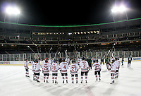 Nebraska-Omaha North Dakota beat Nebraska-Omaha 5-2 in the outdoor game at TD Ameritrade Park on Saturday, Feb. 9, 2013. (Photo by Michelle Bishop)