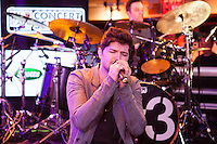NEW YORK, NY - OCTOBER 5:  Danny O'Donoghue of The Script performing live at the MLB Fan Cave Concert Series  in New York City. October 5, 2012. © Diego Corredor/MediaPunch Inc. /©NortePhoto