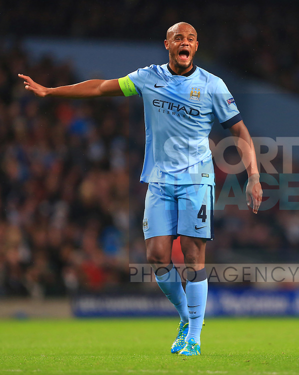 Vincent Kompany of Manchester City - Manchester City vs. Bayern Munich - UEFA Champion's League - Etihad Stadium - Manchester - 25/11/2014 Pic Philip Oldham/Sportimage