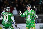 Stockholm 2013-12-30 Bandy Elitserien Hammarby IF - Broberg S&ouml;derhamn IF :  <br /> Hammarbys Patrik Nilsson jublar efter att ha gjort 6-3 p&aring; h&ouml;rna<br /> (Foto: Kenta J&ouml;nsson) Nyckelord:  jubel gl&auml;dje lycka glad happy