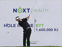 Lee Slattery (ENG) on the 7th tee during Round 3 of the D+D Real Czech Masters at the Albatross Golf Resort, Prague, Czech Rep. 02/09/2017<br /> Picture: Golffile | Thos Caffrey<br /> <br /> <br /> All photo usage must carry mandatory copyright credit     (&copy; Golffile | Thos Caffrey)