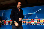 Juventus Gianluigi Buffon during press conference the day before Champions League match between Real Madrid and Juventus at Santiago Bernabeu Stadium in Madrid, Spain. April 10, 2018. (ALTERPHOTOS/Borja B.Hojas)