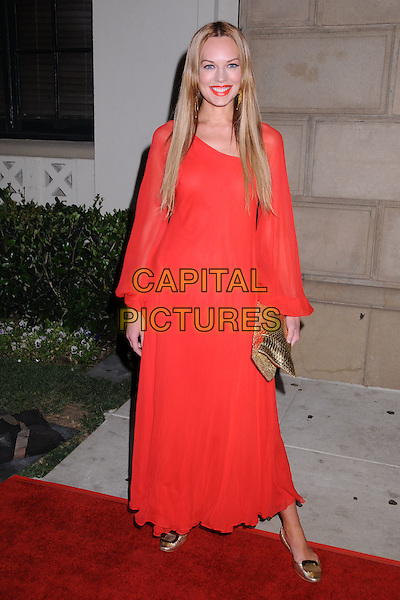 NATASHA ALAM.In Touch Weekly's Summer Stars Party 2008 at Social Hollywood, Hollywood, California, USA..May 22nd, 2008.full length pink coral red dress gold clutch bag shoes .CAP/ADM/BP.©Byron Purvis/AdMedia/Capital Pictures.