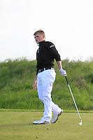 Declan Kelly (Hermitage) on the 9th tee during Round 1 of the Irish Amateur Close Championship at Seapoint Golf Club on Saturday 7th June 2014.<br /> Picture:  Thos Caffrey / www.golffile.ie