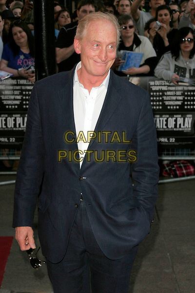 "CHARLES DANCE.""State of Play"" World Film Premiere at Empire cinema, Leicester Square, London, England. .April 21st, 2009 .half length black suit jacket white shirt hand in pocket.CAP/AH.©Adam Houghton/Capital Pictures."