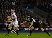 Twickenham, GREAT BRITAIN, Joe WORSLEY pushes through, during the  England vs Scotland, Calcutta Cup Rugby match played at the  RFU Twickenham Stadium on Sat 03.02.2007  [Photo, Peter Spurrier/Intersport-images]....