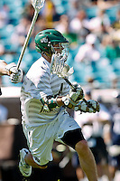 February 20, 2011:  Jacksonville Dolphins midfielder Cameron Mann (4) during  Lacrosse action between the Georgetown Hoyas and Jacksonville Dolphins during the Moe's Southwest SunShine Classic played at EverBank Field in Jacksonville, Florida.  Georgetown defeated Jacksonville 14-11.