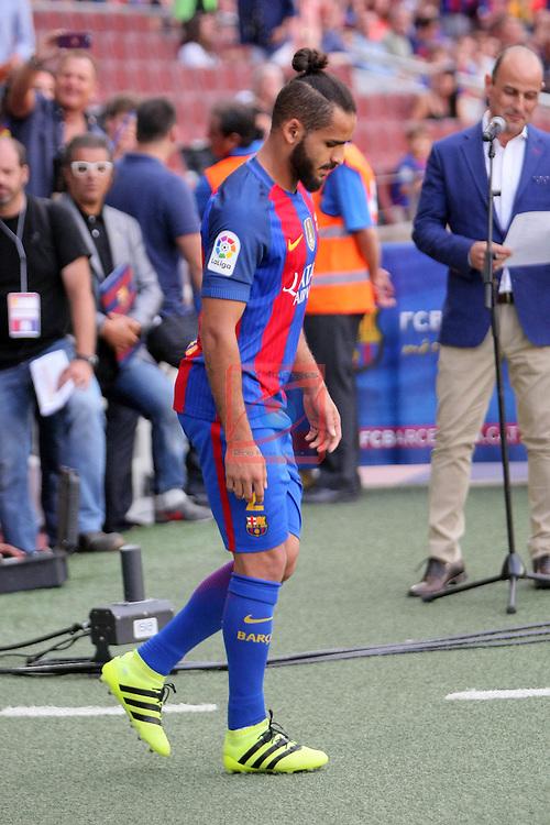 League Santander 2016/2017.<br /> 51e Trofeu Joan Gamper.<br /> FC Barcelona vs UC Sampdoria: 3-2.<br /> Douglas.