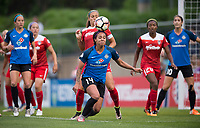 Boyds, MD - Saturday May 20, 2017: Sydney Leroux during a regular season National Women's Soccer League (NWSL) match between the Washington Spirit and FC Kansas City at Maureen Hendricks Field, Maryland SoccerPlex.