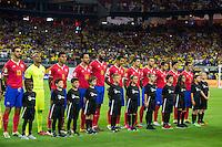 Action photo during the match Colombia vs Costa Rica, Corresponding to  Group -A- of the America Cup Centenary 2016 at NRG Stadium.<br /> <br /> Foto de accion durante el partido Colombia vs Costa Rica, Correspondiente al Grupo -A- de la Copa America Centenario 2016 en el Estadio NRG , en la foto: Seleccion de  Costa Rica<br /> <br /> <br /> 11/06/2016/MEXSPORT/Jorge Martinez.