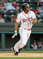 April 24, 2008: Infielder Mike Jones (20) of the Greenville Drive, Class A affiliate of the Boston Red Sox, in a game against the Asheville Tourists at Fluor Field at the West End in Greenville, S.C. Photo by:  Tom Priddy/Four Seam Images