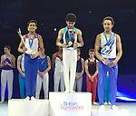 .Presentations British Gymnastics Championships. Mens u14 - u16 .2015Liverpool Echo Arena.