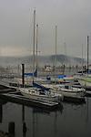 Sailboats docked on Lake Coeur D Alene