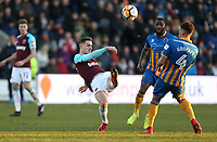 West Ham United's Toni Martinez with a second half shot<br /> <br /> Photographer Rob Newell/CameraSport<br /> <br /> The Emirates FA Cup Third Round - Shrewsbury Town v West Ham United - Sunday 7th January 2018 - New Meadow - Shrewsbury<br />  <br /> World Copyright &copy; 2018 CameraSport. All rights reserved. 43 Linden Ave. Countesthorpe. Leicester. England. LE8 5PG - Tel: +44 (0) 116 277 4147 - admin@camerasport.com - www.camerasport.com