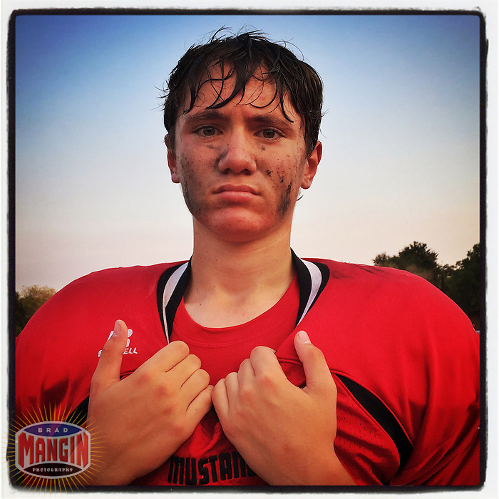 DANVILLE, CA - SEPTEMBER 19: Instagram portrait of Jacob<br /> Revells of Monte Vista High School after a game against Liberty at Monte Vista on September 19, 2014 in Danville, California. Photo by Brad Mangin