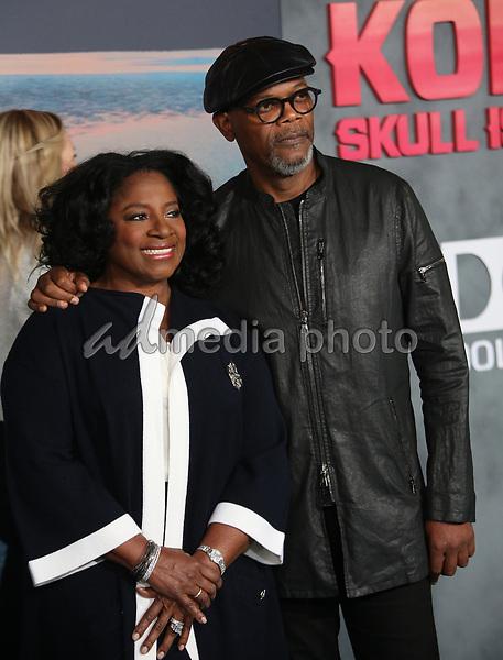 "08 March 2017 - Hollywood, California - Samuel L. Jackson, LaTanya Richardson. ""Kong: Skull Island"" Los Angeles Premiere held at Dolby Theatre. Photo Credit: AdMedia"