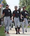 Michael Morse, Ichiro Suzuki (Marlins),<br /> FEBRUARY 24, 2014 - MLB :<br /> Miami Marlins spring training camp in Jupiter, Florida, United States. (Photo by AFLO)
