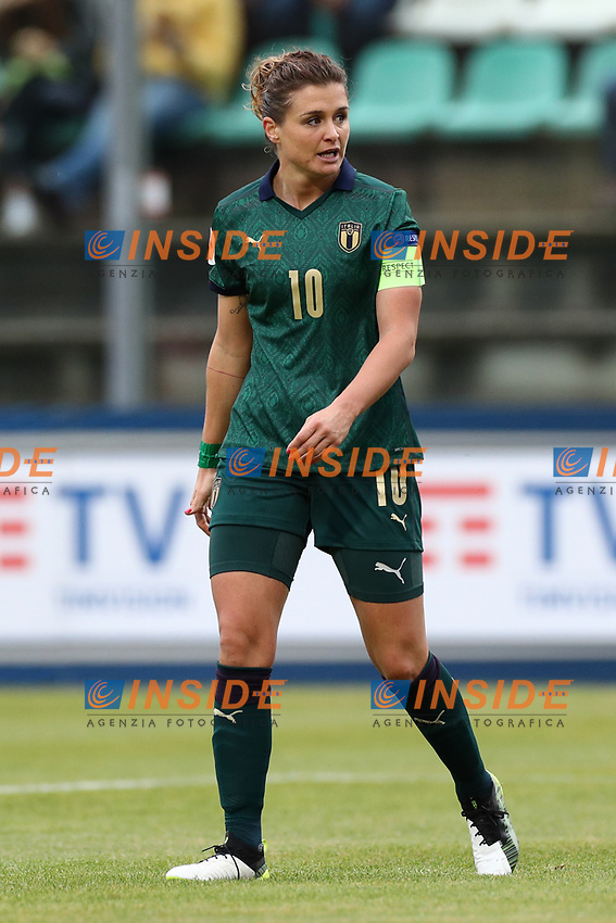 Cristiana Girelli of Italy looks on<br /> Castel di Sangro 12-11-2019 Stadio Teofolo Patini <br /> Football UEFA Women's EURO 2021 <br /> Qualifying round - Group B <br /> Italy - Malta<br /> Photo Cesare Purini / Insidefoto