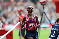 Mo Farah of Great Britain wins the menís 3000 metres during the Muller Anniversary Games at The London Stadium on 9th July 2017