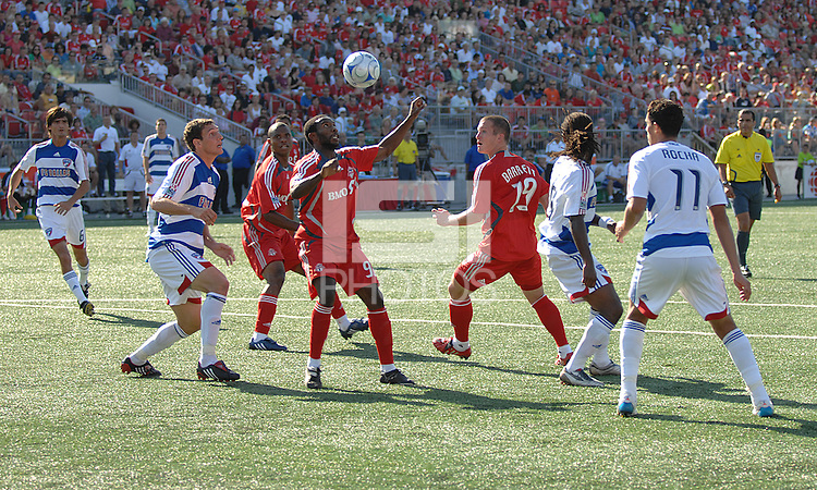 MLS Action at BMO Field on August 3, 2008 between Toronto FC and FC Dallas. FC Dallas won 2-0.