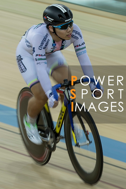 Leung Chung Pak of the X SPEED competes in the Men Junior - Sprint Final category during the Hong Kong Track Cycling National Championships 2017 at the Hong Kong Velodrome on 18 March 2017 in Hong Kong, China. Photo by Chris Wong / Power Sport Images