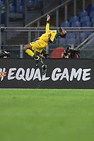 Olivier Ntcham of Celtic celebrates after scoring a goal<br /> Roma 7-11-2019 Stadio Olimpico <br /> Football Europa League 2019/2020 <br /> SS Lazio - Celtic <br /> Photo Antonietta Baldassarre / Insidefoto
