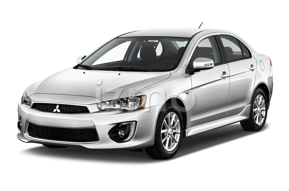 2016 Mitsubishi Lancer ES-CVT 4 Door Sedan Angular Front stock photos of front three quarter view