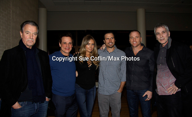 The Young and The Restless - Eric Braeden, Christian LeBlanc, Melissa Ordway, Joshua Morrow, Sean Carrigan, James Michael Gregary - Genoa City Live celebrating over 40 years on February 27 at the Lyric Opera House on stage with questions and answers hosted by Christian and Sean followed with autographs and photos in the theater.  (Photo by Sue Coflin/Max Photos)