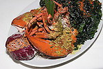 Shanghai Lobster and Fried Spinach, China Grill Restaurant, New York, New York