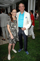 Shana Lutker, Stephen Maguire==<br /> LAXART 5th Annual Garden Party Presented by Tory Burch==<br /> Private Residence, Beverly Hills, CA==<br /> August 3, 2014==<br /> ©LAXART==<br /> Photo: DAVID CROTTY/Laxart.com==