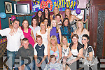 TURNING 40: Sandra McEvoy, Cois Coille, Tralee (seated centre), had a ball at her 40th birthday party in the Greyhound Bar, Tralee, on.Saturday night surrounded by all her family and friends.