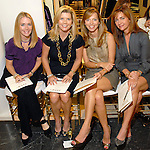 Angie Reckling, Melissa Schnitzer, Marjorie Jacobe and Mimi Marix at the Monique Lhuillier show at Tootsies Thursday Oct. 30, 2008. (Dave Rossman/For the Chronicle)
