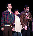 Lin-Manuel Miranda, Celia Keenan-Bolger & Colin Donnell & the Encores! Cast members during the Curtain Call for ENCORES!  'Merrily We Roll Along'  at City Center in New York City, 2/14/2012
