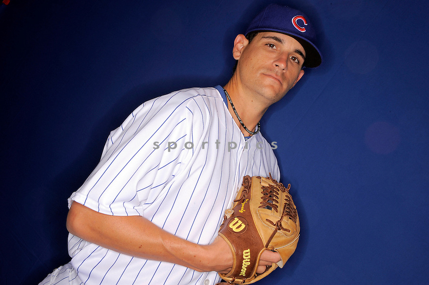 JASON WADDELL, of the Chicago Cubs, during spring training photo day on February 23, 2009 in Mesa, Arizona.