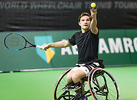 Rotterdam, The Netherlands, 13 Februari 2019, ABNAMRO World Tennis Tournament, Ahoy, first round wheelchair singles, Jef Vandorpe (BEL),<br /> Photo: www.tennisimages.com/Henk Koster