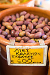 Olives at the market in Chania, Crete, Greece, Europe