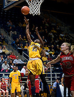 Gennifer Brandon of California shoots the ball during the game against St. Mary's at Haas Pavilion in Berkeley, California on November 15th, 2012.  California defeated St. Mary's, 89-41.