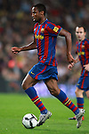 Football Season 2009-2010. Barcelona's player Seydou Keita during their Spanish first division soccer match at Camp Nou stadium in Barcelona October 25, 2009