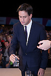 © Joel Goodman - 07973 332324 . 24/09/2013 . Brighton , UK . ED MILIBAND drinks some water as he delivers the Leader's Speech to the Labour Party conference , this afternoon (24th September 2013) . Day 3 of the Labour Party Conference in Brighton . Photo credit : Joel Goodman