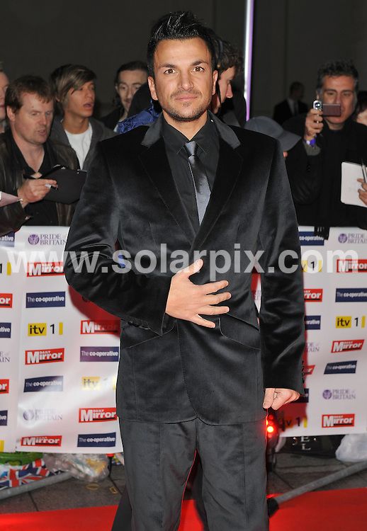 **ALL ROUND PICTURES FROM SOLARPIX.COM**.**WORLDWIDE SYNDICATION RIGHTS**.Red carpet arrivals at the Pride Of Britain Awards. Held at Grosvenor House, Mayfair, London, UK. 5 October 2009...This pic: Peter Andre..JOB REF: 10066 SSD     DATE: 05_10_2009.**MUST CREDIT SOLARPIX.COM OR DOUBLE FEE WILL BE CHARGED**.**MUST NOTIFY SOLARPIX OF ONLINE USAGE**.**CALL US ON: +34 952 811 768 or LOW RATE FROM UK 0844 617 7637**