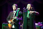 BROOKLYN  -- MARCH 08, 2011:  Alecia Chakour (R) performs with Soulive's Eric Krasno (L) at the Brooklyn Bowl on March 08, 2011 in Brooklyn.  (PHOTOGRAPHS BY MICHAEL NAGLE)