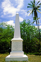 Monument to Captain James Cook at Kealakekua Bay