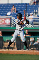 West Virginia Black Bears Matthew Fraizer (52) at bat during a NY-Penn League game against the Batavia Muckdogs on June 26, 2019 at Dwyer Stadium in Batavia, New York.  Batavia defeated West Virginia 4-2.  (Mike Janes/Four Seam Images)