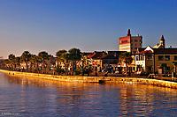 Historic St. Augustine, Florida at dawn