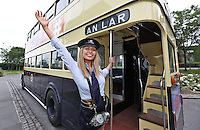 "***NO REPRODUCTION FEE***25/05/14 Conductor Jane Kendlin from Clontarf pictured with a 1961 CIE Leyland PD3 double decker at the announcement of the inaugural Dublin ""Vintage Port"" Rally which will take place on Sunday 28th September 2014. Veteran, Vintage and Classic private and commercial vehicles from all over Ireland will gather at Dublin Port for this major event, further details of which are available at www.dublinportrally.com Picture Colin Keegan, Collins Dublin. ***NO REPRODUCTION FEE**"