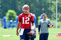 June 13, 2017: New England Patriots quarterback Tom Brady (12) takes part at the New England Patriots organized team activity held on the practice field at Gillette Stadium, in Foxborough, Massachusetts. Eric Canha/CSM