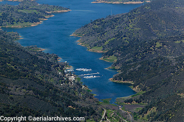 aerial photograph Lake Berryessa, Napa County, California
