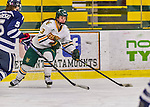 13 February 2015: University of Vermont Catamount Defender Gina Repaci, a Junior from Toronto, Ontario, in third period action against the University of New Hampshire Wildcats at Gutterson Fieldhouse in Burlington, Vermont. The Lady Catamounts fell to the visiting Wildcats 4-2 in the first game of their weekend Hockey East series. Mandatory Credit: Ed Wolfstein Photo *** RAW (NEF) Image File Available ***